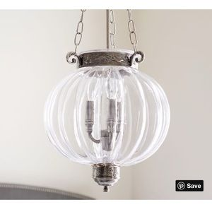Pottery Barn ribbed pendant lighting fixture